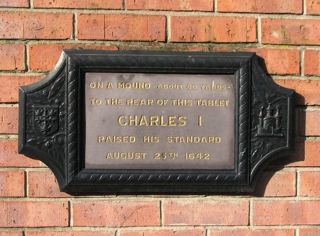 Charles I raises standard