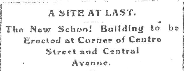 The Building of Center Street School