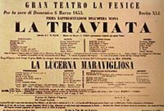 Estrena de La traviata, de Giuseppe Verdi
