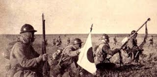 Japanese army invades Manchuria