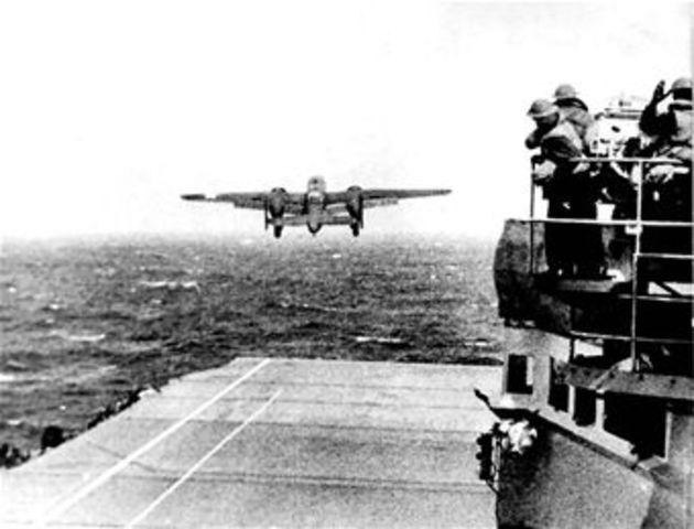 16 American Bombers Attack Tokyo
