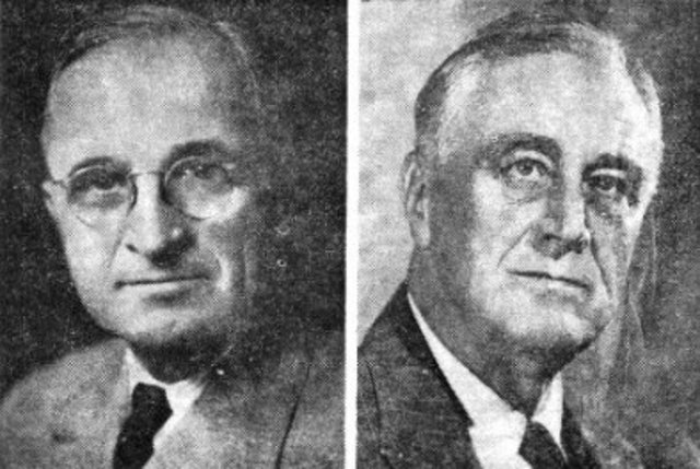 FDR dies and Truman becomes President of the US
