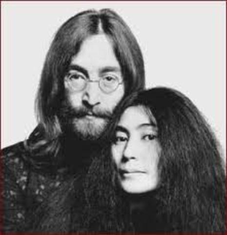 John metts Yoko Ono (his future wife)
