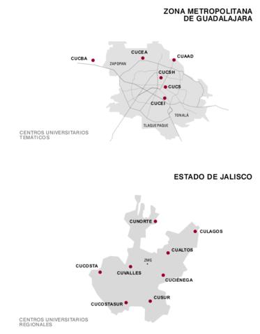 Visualización de la Red Universitaria de la Universidad de Guadalajara