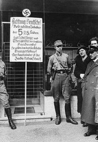 Nazi Boycott of Jewish-owned Businesses