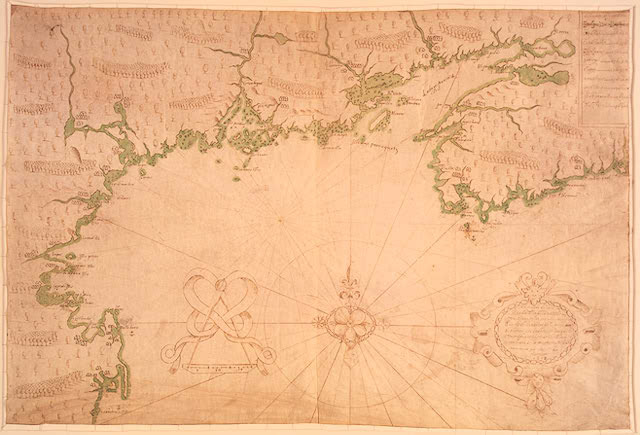Champlain makes a map of Quebec