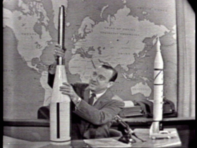 Explorer 1, the first American satellite, enters orbit around Earth.