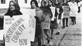 The Development of Women's Role in Society timeline