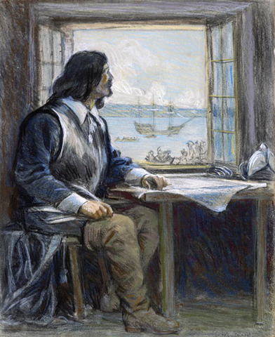 Young Champlain sails and navigates with his uncle, in the Caribbean