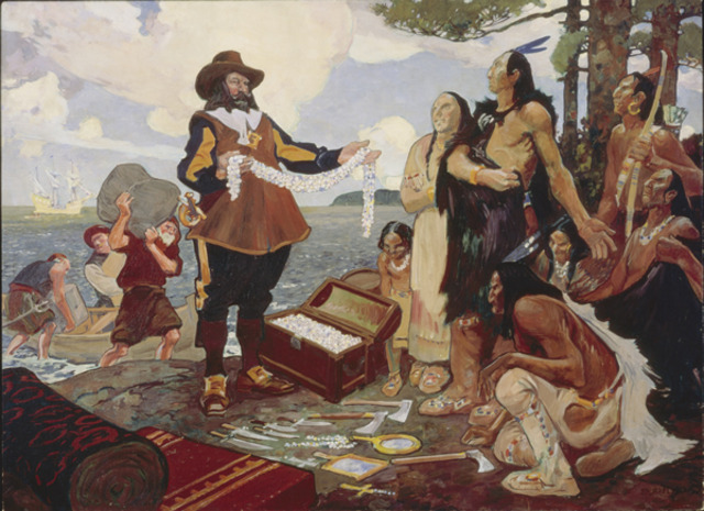Champlain explores with the Hurons and Montagnais  tribes.