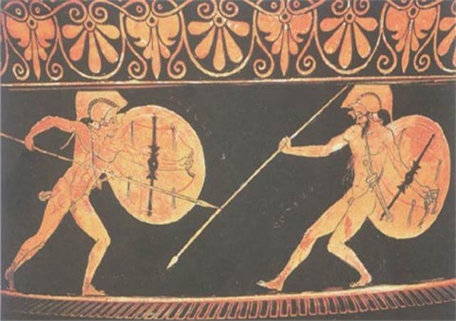 Achilles enters the battle