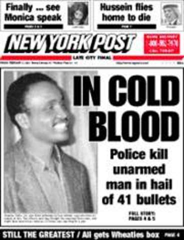 NYPD Shoot Unarmed Man 41 Times