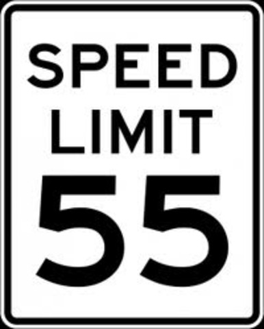 •	National speed limit 55