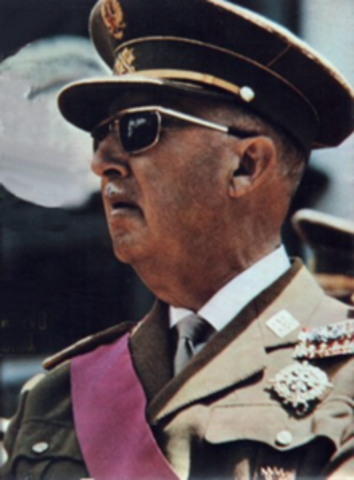 •	Francisco Franco dies
