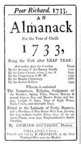 """Benjamin Franklin's """"Poor Richard's Almanack"""""""