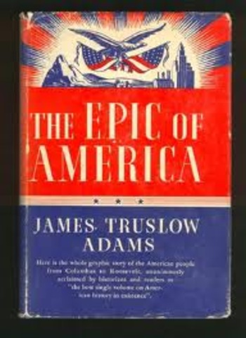 """""""The Epic of America"""""""