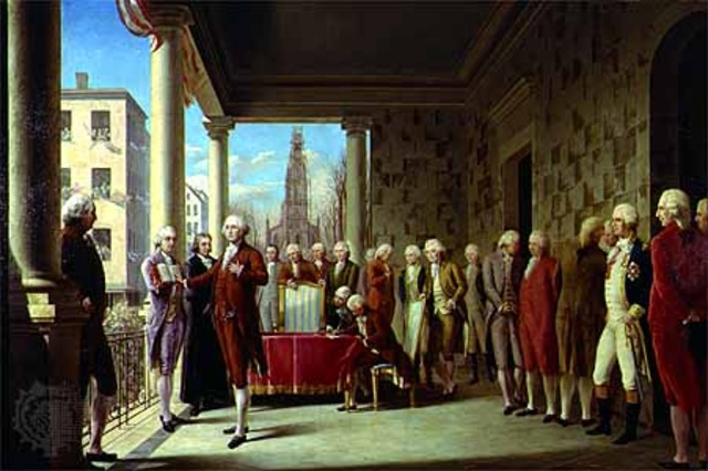Washington inaugurated first President