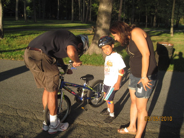I learned how to ride a bike without training wheels