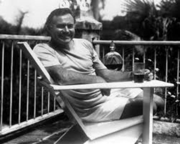 Hemingway moved to Cuba