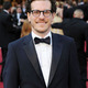 Author brian selznick who wrote the book the invention of hugo cabret upon which martin scorseses hugo is based walks the red carpet at the academy awards.