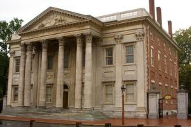 The First Bank of the United States chartered