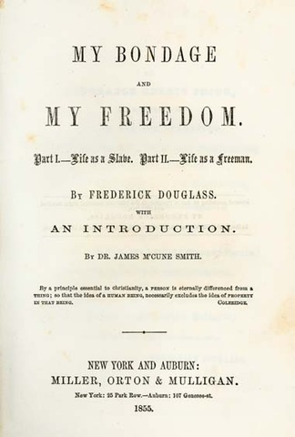 """an analysis of slavery in frederick douglass novel my bondage and my freedon An american slave by frederick douglass, narrative of the life of frederick  douglass  in douglass' book, he narrates his earliest accounts of being a slave   as the keys to freedom in terms of its true values within the institution of slavery   your analysis may not have the word """"quote"""" in it anywhere, nor should you ."""