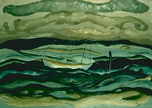 Arthur Dove paints first American Abstract
