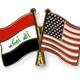 Flag pins iraq usa
