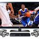 Lg infinia 55lw5600 55 inch led tv and lg bd670 blu ray player and 4 pairs of 3d glasses