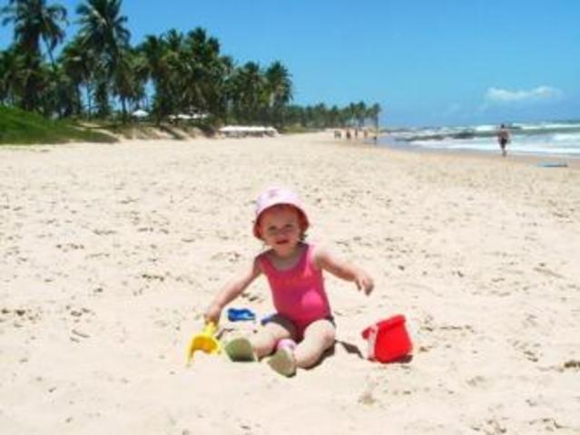 Su primer viaje a la playa