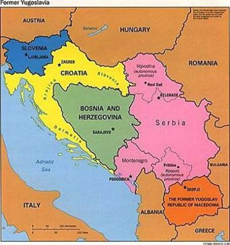 Slovenia and Croatia Declare their Independence