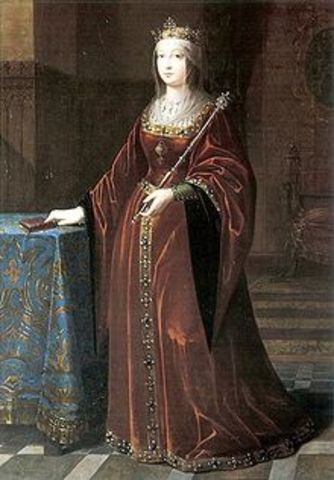 Henry IV dies and Isabella I is named queen