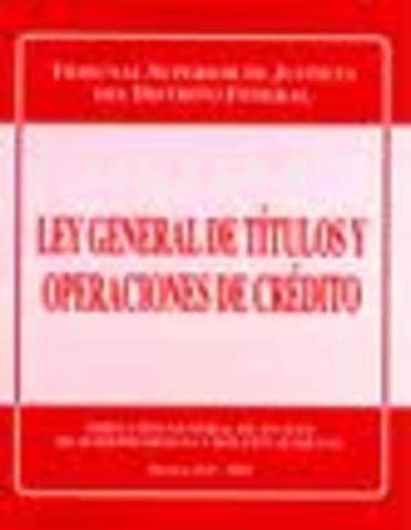 Ley de Títulos y Operaciones de Crédito