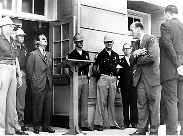 Witnesses Racial Integration at University of Alabama with George Wallace Speaking