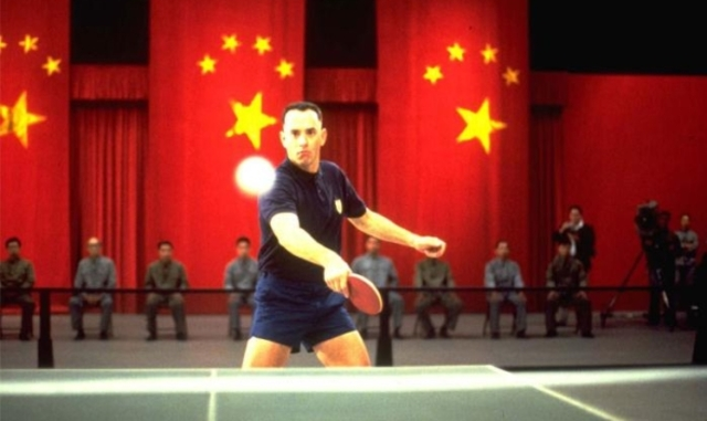 Forrest Visits China with U.S. Ping Pong Team