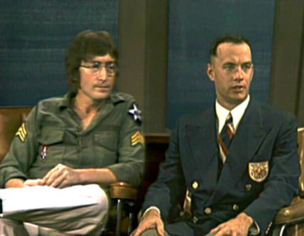 Forrest Appears on the Dick Cavett Show with John Lennon