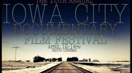 """Iowa City International Film Documentary """"Best in Film"""" Winners timeline"""