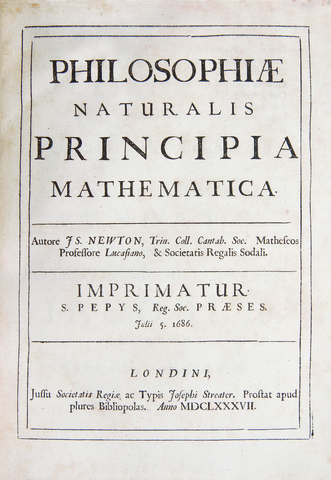 Isaac Newton publishes philosophy