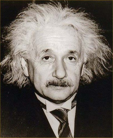 Albert Einstein presents modell of gravitaion