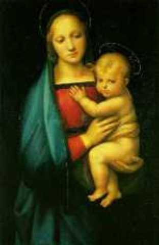 """Painting, """"Madonna del Granduca"""""""