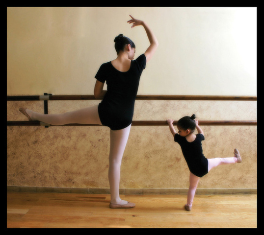 Juliana started Ballet classes