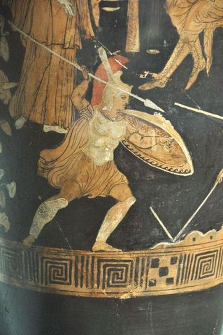 Achilles killed Prince Memnon of Ethopia, son of the goddess of the ocean who came to assist Troy.