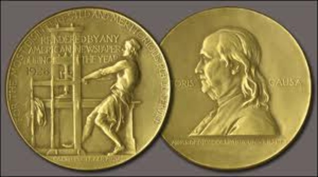 First Pulitzer Prize is Awarded