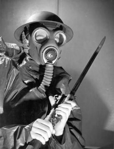 First use of poisonous gas in warfare