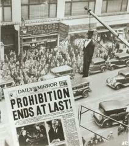 Prohibition Ends In the US