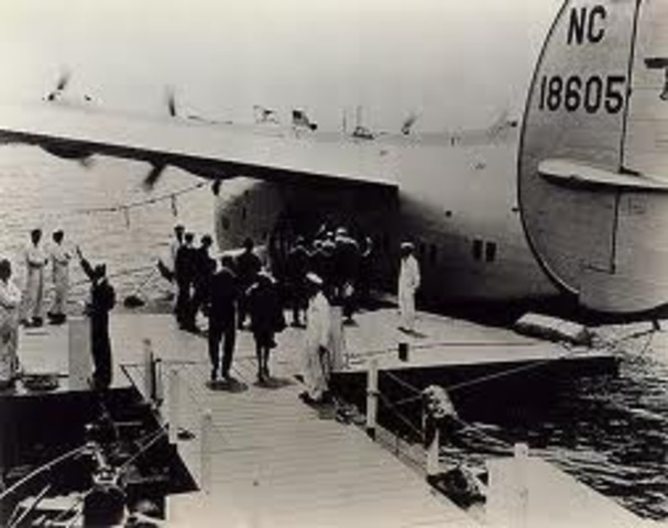 First Commercial Flight Over the Atlantic