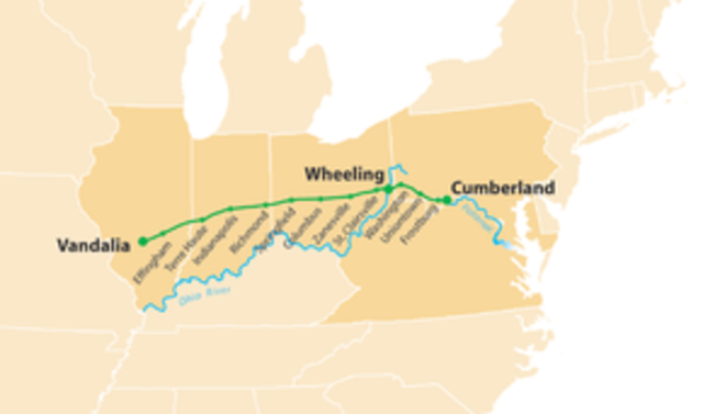National (Cumberland) Road provides gateway to the West