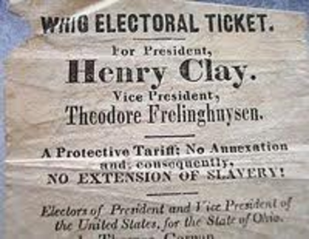 Whig Party formed from National Republicans