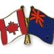 Flag pins canada new zealand