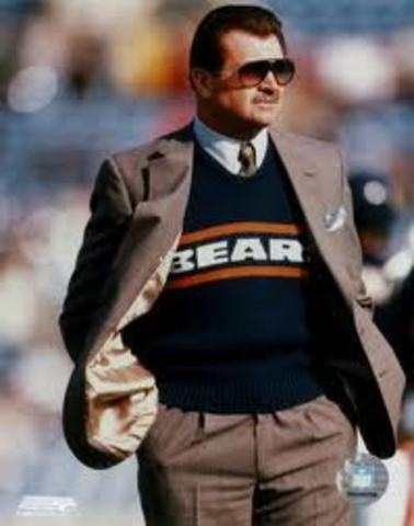 Mike Ditka shows control in the Superbowl.